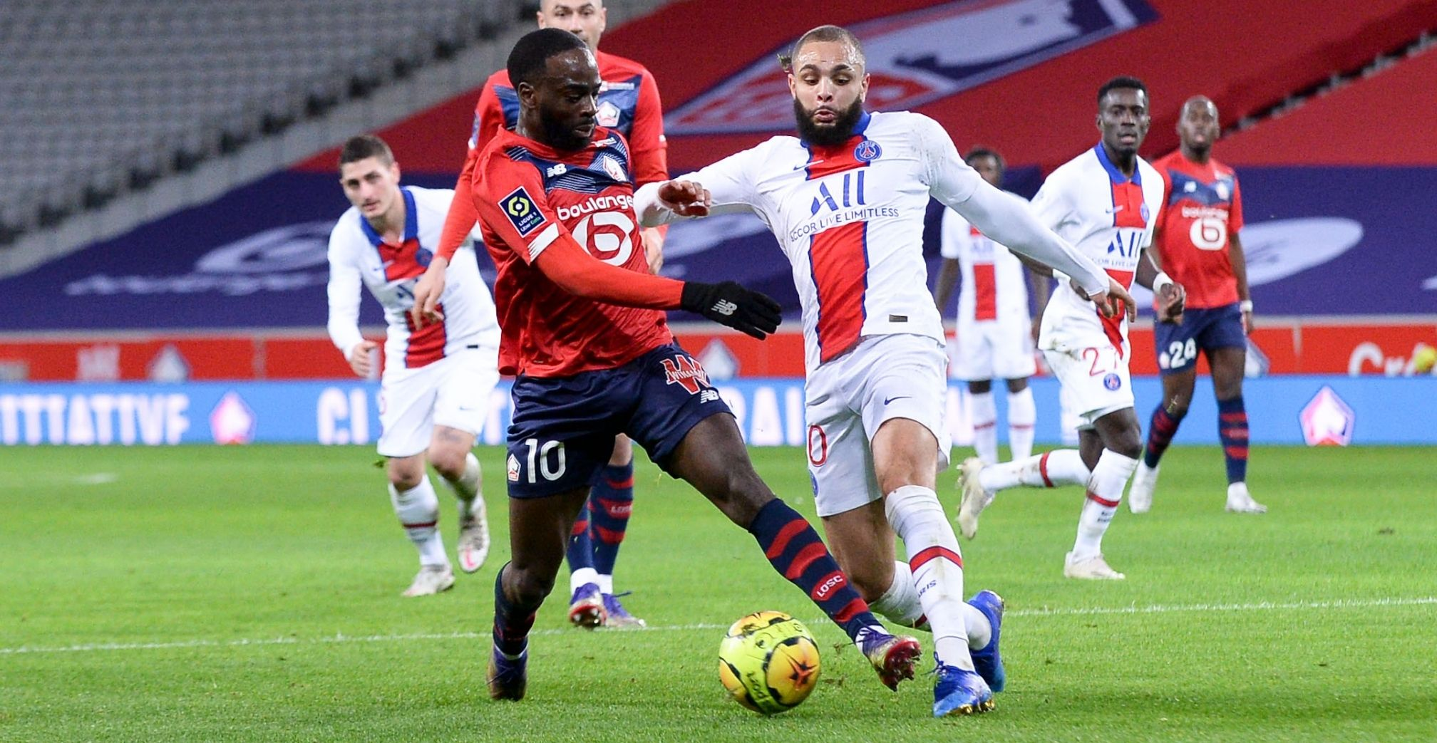 Lille and PSG share spoils